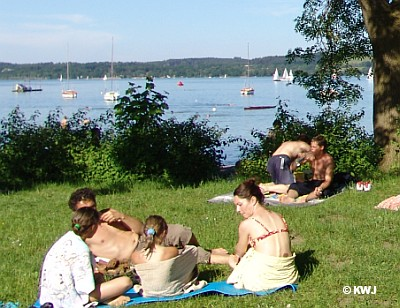 Foto: Sommer in Utting am Ammersee