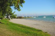 Camping am Ammersee-Strand in Oberbayern