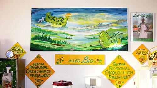 Bio Käse Rohmilch-Käse Bartholl in der Markthalle in Diessen am Ammersee